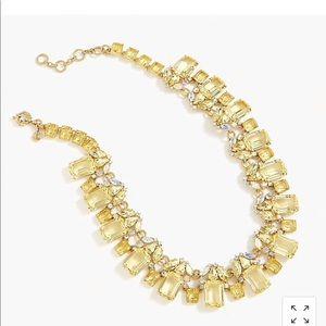 J.crew cluster drop stone necklace